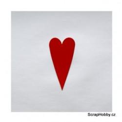 Srdíčka červená střední špičatá - 50 ks