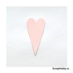 Srdíčka růžová malá špičatá - 1 ks