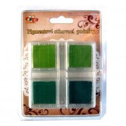 Zelené - stínované podušky