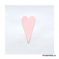 Srdíčka růžová velká špičatá - 1 ks