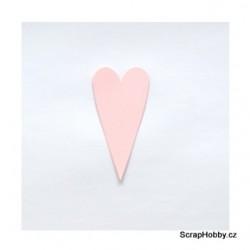 Srdíčka růžová střední špičatá - 1 ks