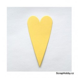 Srdíčka žlutá velká špičatá - 1 ks