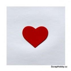 Srdíčka malá červená - 50 ks