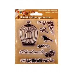 Razítka - Ptáček, klícka, handmade