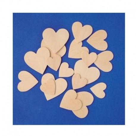 Dřevěné srdce malé - 3cm
