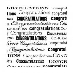 Scrapbooking - Black Congrats