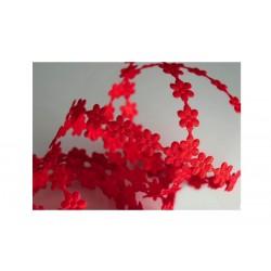 Scrapbooking - Stužky kytičkaté červené
