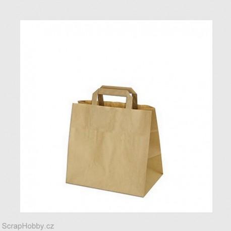 4c56e42c5 papírová taška - hnědá s plochým uchem